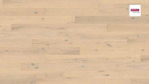 535444 Plank 1-Strip 2V Oak Sand White Sauvage brushed naturaDur